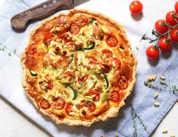 cuisine courgette courgette quiche with cherry tomatoes feta the last food