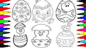 how to draw giant easter surprise egg l learning coloring pages