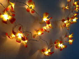 Flower String Lights by 2014 Diy Outdoor Lightings 35 Bulbs Vintage Yellow Frangipani