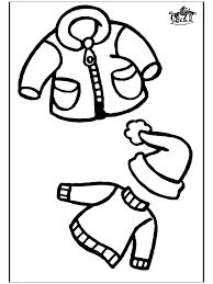 winter clothing coloring pages free printable winter clothing