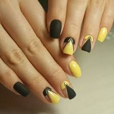 40 yellow nail art ideas yellow nail art yellow nails and black