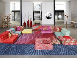 canapé mah jong sectional modular fabric sofa mah jong kenzo takada by roche