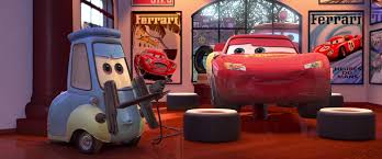 cars sally and lightning mcqueen kiss guido disney wiki fandom powered by wikia