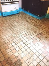 Tile Kitchen Floor by Dirty And Stained Marble Kitchen Tiles Rejuvenated In St Neots