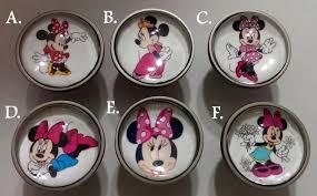 Bedroom Furniture Knobs And Pulls Dresser Knobs Minnie Mouse Disney Hand Made Bedroom Dresser