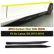 lexus gs 350 vietnam carbon fiber side skirt extension lip fit for lexus gs350 f sport