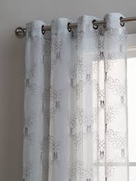 Jml Door Curtain by Amazon Com Warm Home Designs Sheer Silver Faux Linen Standard