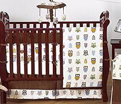 amazon com night owl forest nature baby boy bedding 9 pc crib