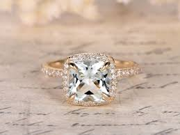 white topaz rings images White topaz engagement ring 8x8mm cushion cut 14k yellow gold jpg