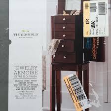 Mirror Jewelry Armoire Target Best Target Threshold Brand Espresso Finish Jewelry Armoire Brand