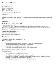 Resume Job Description by Store Associate Job Description Resume For Sales Associate Sales