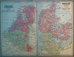 Holland Map Map Of Denmark And Holland 1886