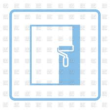 Painting Icon Wall Painting Icon Vector Clipart Image 152653 U2013 Rfclipart