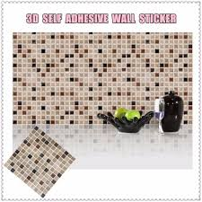 backsplash wall decals aliexpress com buy self adhesive mosaic tile wall sticker diy