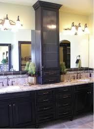 Vanity With Storage Vanity With Storage Tower Single Tower Custom White Bathroom