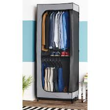 clothes cupboard double hang clothes closet the container store
