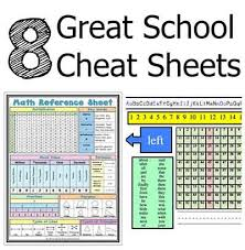 great sheets 8 great school cheat sheets lil moo creations