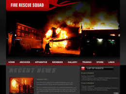 fire rescue squad free website template free css templates