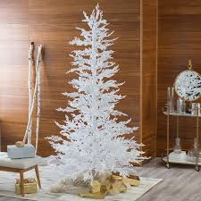twig christmas tree flocked white twig tree pre lit christmas tree hayneedle