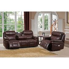 Top Grain Leather Living Room Set Amax Leather Summerlands Ii Top Grain Leather Power Reclining Sofa