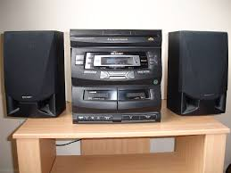 sharp home theater system sharp stereo cd c401 radio 3 cd dual cassette with remote