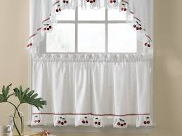 black kitchen curtains and valances dark brown wooden countertop