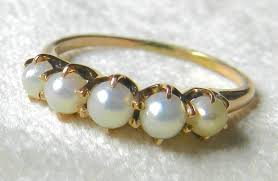 the pearls wedding band antique pearl wedding band 14k gold pearl