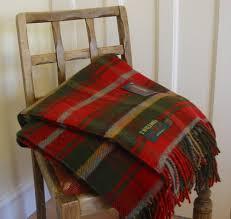 Brown Tartan Rug Wool Blanket Online British Made Gifts Dark Maple Tartan Picnic