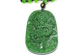 dragon jade necklace pendant images Mens natural green hand carved dragon jade pendant necklace jpg