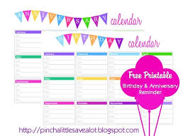Free Birthday Calendar Template Excel Yearly Birthday Calendar Weekly Calendar Template