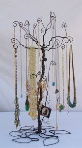 necklace holder stand images Wire necklace stand jewelry tree holder metal sculpture pre jpg