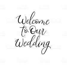wedding welcome sign template welcome to our wedding wedding typography templates vector