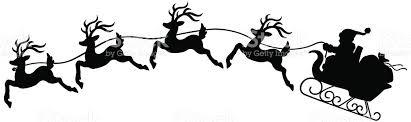 santa sleigh and reindeer santa sleigh with reindeer stock vector more images of