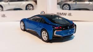 Bmw I8 Blue - 2014 bmw i8 blue 1 64 scale bmw dealer edition daboxtoys