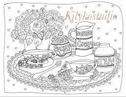 printable download coloring colouring book pages diy tea