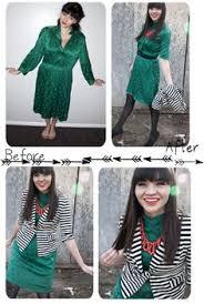 diy fashion thrift store dress tailoring