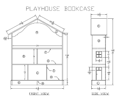 Wooden Bookcase Plans Free by Learn How To Make A Wooden Playhouse Bookcase Woodworking Plans