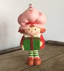 vintage american greetings strawberry shortcake ceramic christmas