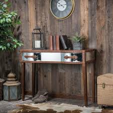 Knight Home Decor Knight Home Evelyn Mirrored Two Drawer Brown Console Table