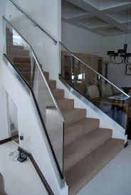 Glass Stair Banister Glass Railing And Glass Doors
