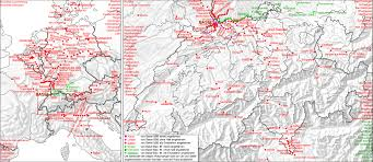 Map Of Switzerland And France by Impressum
