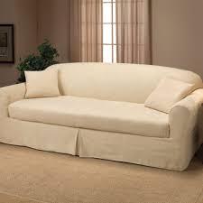 sure fit stretch pinstripe 2 pc t cushion sofa slipcover