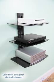 mount sf003 vivo floating wall mount tempered triple glass shelf