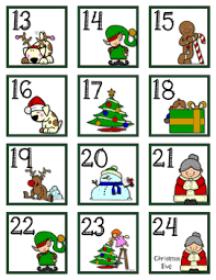 december christmas calendar cards and header by tk kreations tpt