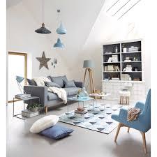 maison home interiors suspension en métal et bois grise l 50 cm arvid maisons du monde