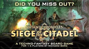 siege steiner siege of the citadel 2nd edition techno boardgame by