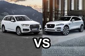 audi jeep 2016 2016 jaguar f pace vs 2016 audi q7 design youtube