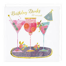 cocktail recipe cards cocktail drinks birthday card whistlefish