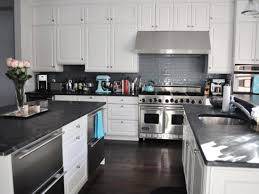 rectangle gray tile back splash completed with large cabinet and
