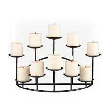 decorating pretty 10 candle metal fireplace candelabra in black